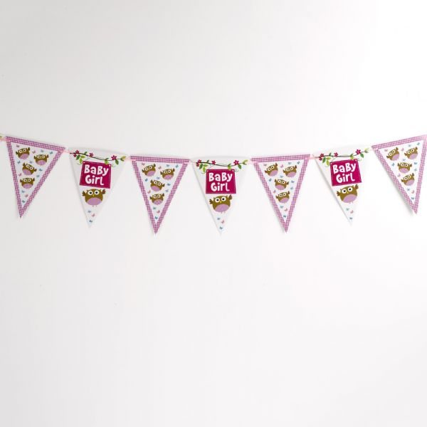 Little Owls Pink Multi Use Bunting